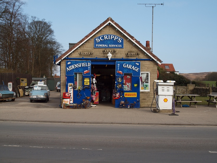 Scripp's garage in Aidensfield (filming location for ITV's Heartbeat)