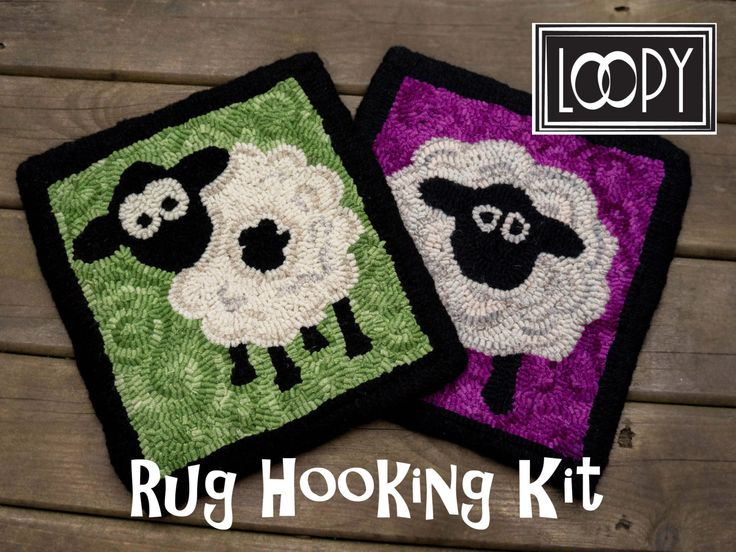 Rug Hooking Sheep Kit