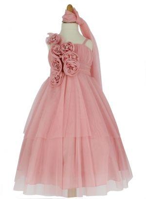 32 99 jolie robe enfant pour mariage en tulle sur le for Jolies filles s habillent pour les mariages