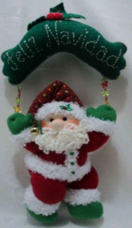 Mejores 376 im genes de navidad en pinterest adornos de - Decoracion navidena fieltro ...