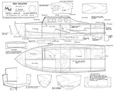 Quinze marins sur le bahut du mort...: Plan maquette vedette Sea Falcon