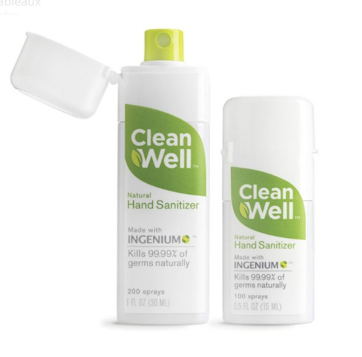 Clean Well Hand Sanitizer All Natural And No Alcohol Hard To