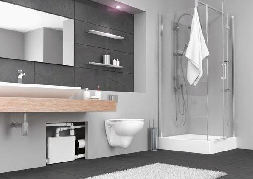 Homeplaza - Superschlanke Hebeanlage entsorgt Abwasser leistungsstark und zuverlässig - Die erste Wahl fürs zweite Bad