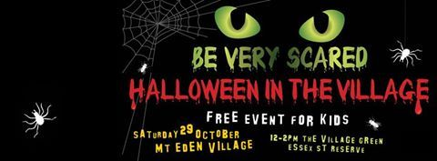 'Free event for kids. The Village green - Essex St Reserve - Mt Eden Village.  Dress up and join the fun with your resident band of village witches for fear factor food, cauldron games, music, spooky futures and much much more...  Suitable for kids 4 and upwards. This non-profit family event is organised and subsidised by the Mt Eden Village Business Association.  Please share this event : https://www.facebook.com/events/340041476387198/'