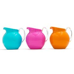 acrylic pitchers in fun colors