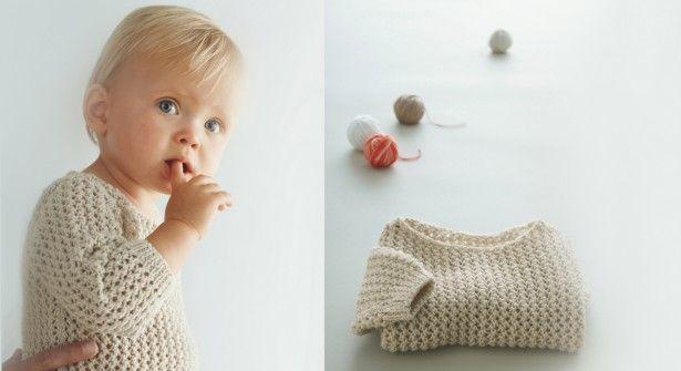 modèle gratuit : un pull pour bébé de phildar - prima.fr