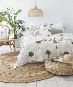 Polka Dot Palm Trees Kantha Quilt -Preorders Open