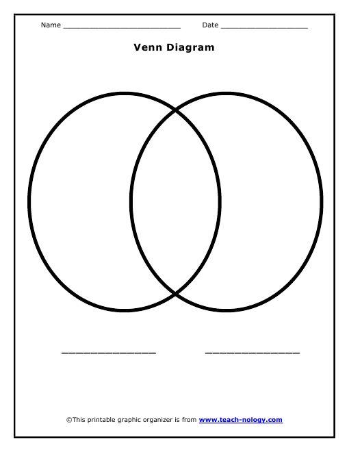 Compare!  Printable Venn Diagram | Printable Venn Diagram