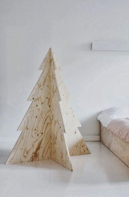 originele kerstboom uit hout