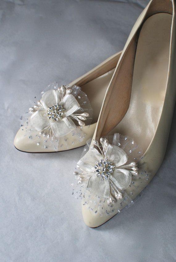 Bridal Shoe Clips Wedding Shoe Clips Pearl Shoe by hemsandbustles, $32.00