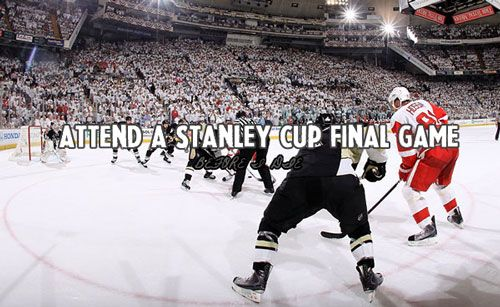 Done! we attended two stanley cup finals games in 2008.... :) Hockey Bucket List- Attend a Stanley Cup Finals game!