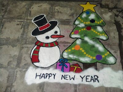Free Download Happy New Year 2018 Rangoli Designs Images