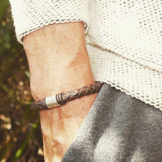 Mens Personalised Bracelet, Antique Brown Leather Bracelet, Personalised Silver Bead, Mens Cuff.Custom Bracelet, Engraved Bracelet  #MensPersonalisedBracelet #FathersDay #LeatherBracelet #Engravedbracelet  #Menleatherband #MensBracelet #leatherwrap #custombracelet #handmade  #handmadejewelry #jewelry #etsy #etsyjewelry #etsyfashion #etsygift  #bracelet #custombracelet