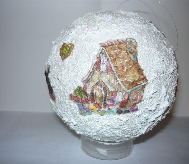 #Christmas tree #ball (#decoupage)