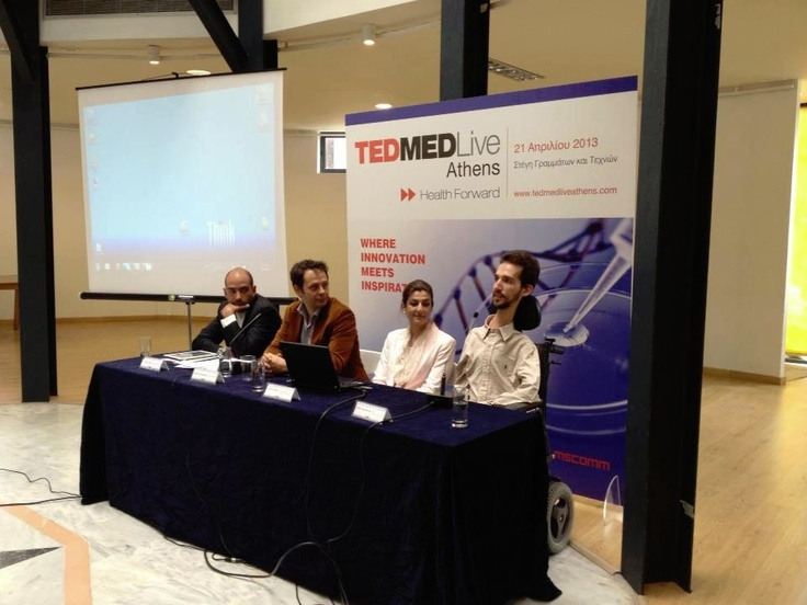 Stelios Kympouropoulos at TEDMED live Athens Press Conference
