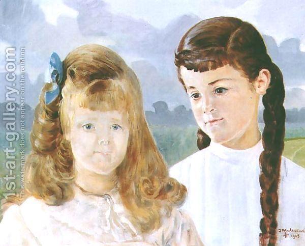 Portrait of Karolina and Adelajda Lanckoronska by Jacek Malczewski