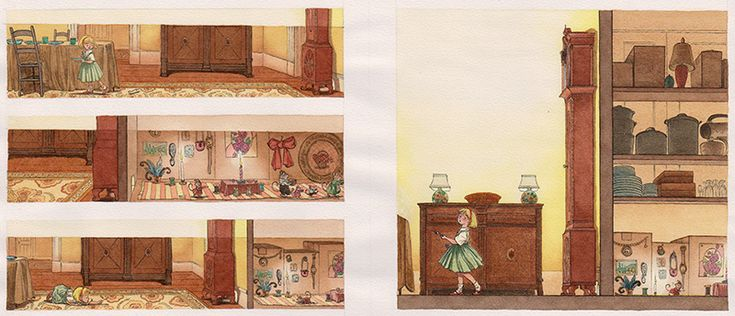 Mary and the Mouse, The Mouse and Mary- Illustrated by Barbara McClintock by Beverly Donofrio & Barbara McClintock available at the R. Michelson Galleries.