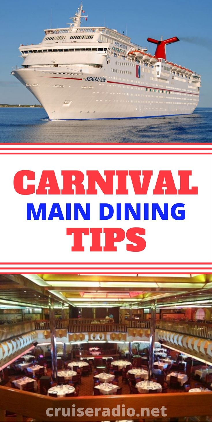 We've put together 31 tips for the main dining room on Carnival Cruise Line ships to help you get the most out of your dining experience.