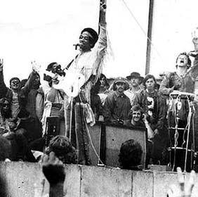 Jimi Hendrix thigh scarf, Woodstock