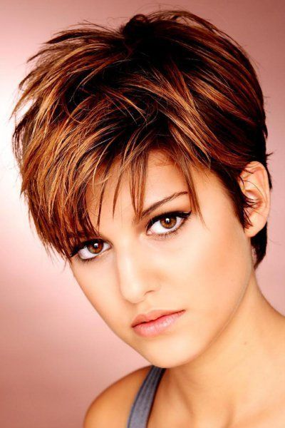 short hair style for women, pixie cut with long bangs