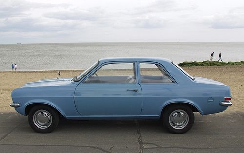 The classic Vauxhall Viva...except our one was a lime green...