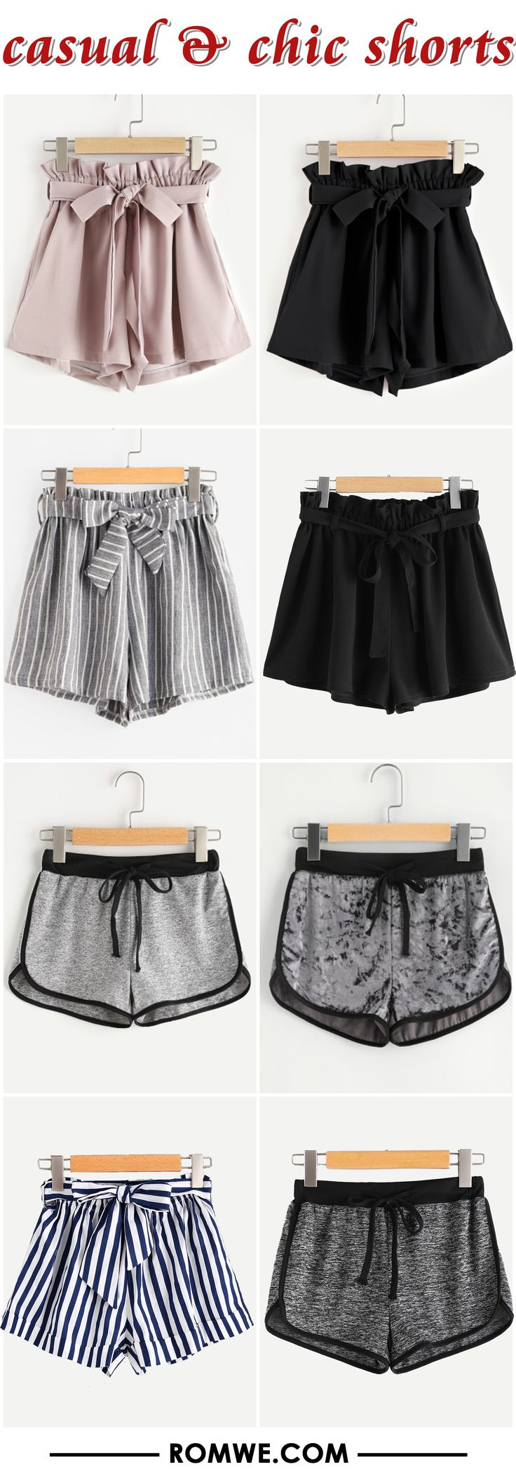 summer chic & casual shorts from romwe.com