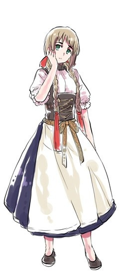 ((So this is what Liechtenstein looks like with long hair! She's adorable like this~))