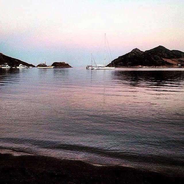 A glimpse of Patmos's dramatic sunset.. #patmos #grikos #patmosaktis