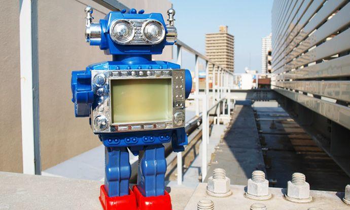 1960s 堀川玩具工業製 宇宙の映像が流れるロボット 外箱付き