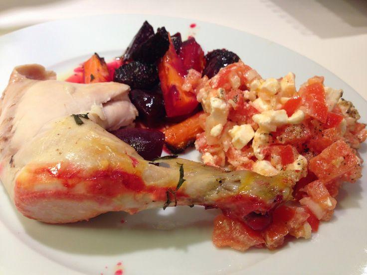 LCHF: Hel kylling fyldt med citron og rosmarin