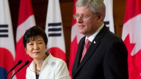 On September 22, 2014, Stephen Harper signed an agreement to a free trade deal with South Korea. He claimed that it would grow the economy by $1.7 billion.