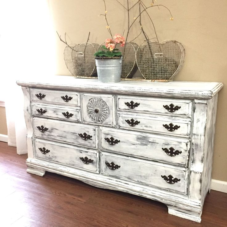 Distressed Bedroom Furniture Diy: 17 Best Ideas About White Distressed Dresser On Pinterest