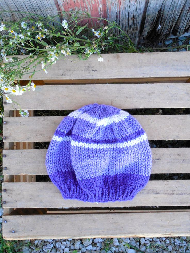A personal favorite from my Etsy shop https://www.etsy.com/listing/204764016/6-9-mo-knit-purple-and-light-pink-stripe