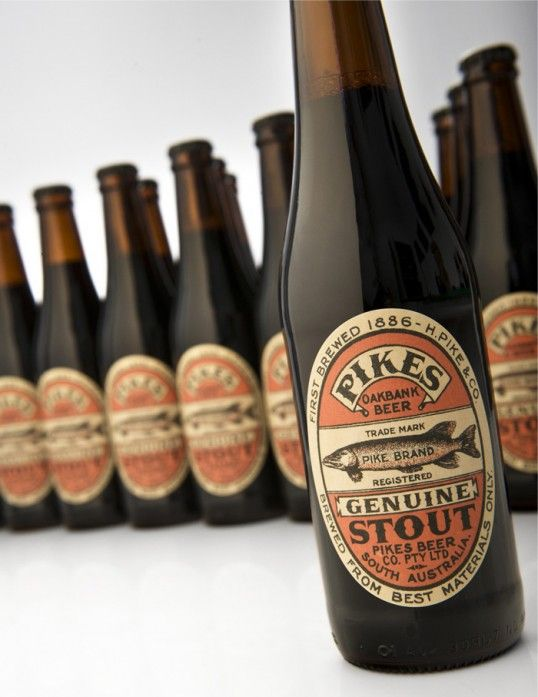Pike's Stout. We should sell this at the resort :): Design Inspiration, Beer Packaging, Packaging Design, Beer Bottle, Beer Labels, Pike Stout, Genuine Stout, Black Squid, Labels Design
