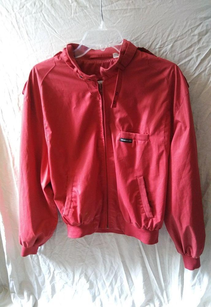 Vintage MEMBER'S ONLY Moto Cafe Racer Jacket Size 44 Large Red   Clothing, Shoes & Accessories, Vintage, Men's Vintage Clothing   eBay!