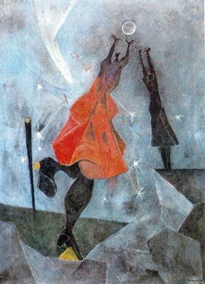Rufino Tamayo - Mujeres alcanzando la luna  www.artexperiencenyc.com