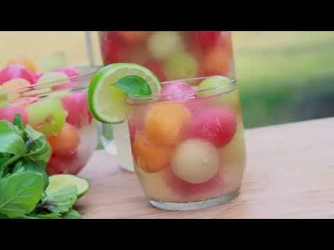 Melon Ball Punch Recipe  (Virgin White Sangria) | Divas Can Cook
