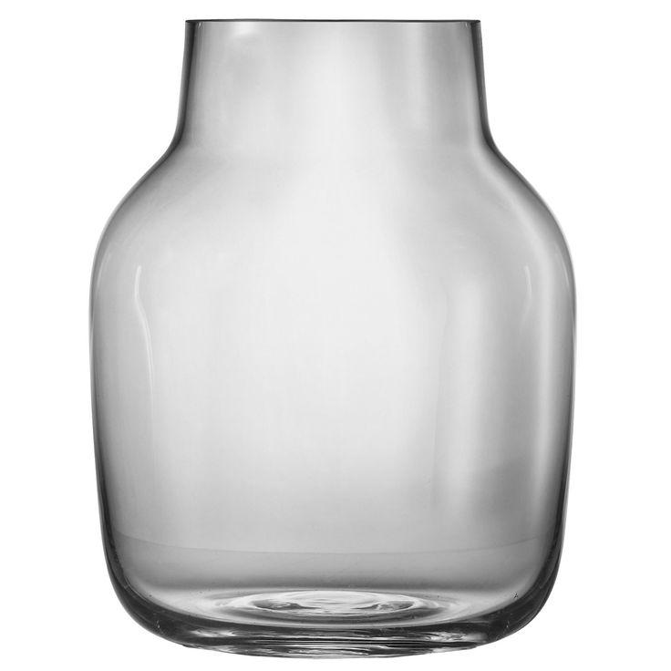Glas vase fra Muuto i grå, large