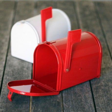 Mini boites airmail rouges en métal