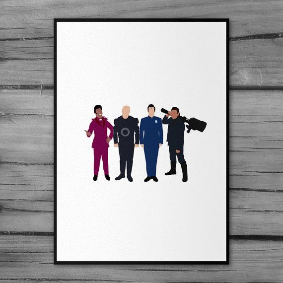 Red Dwarf Poster Minimal Artwork by ComedyQuotes on Etsy