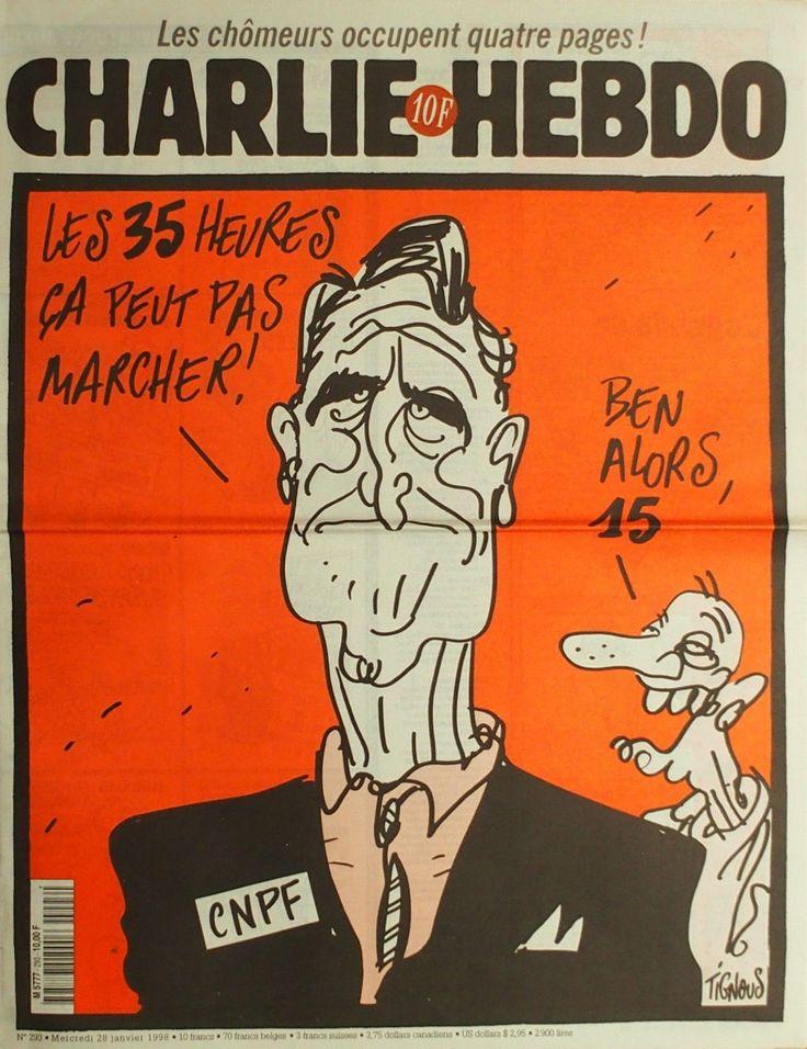 Charlie Hebdo - # 293 - 28 Janvier 1998 - Couverture : Tignous