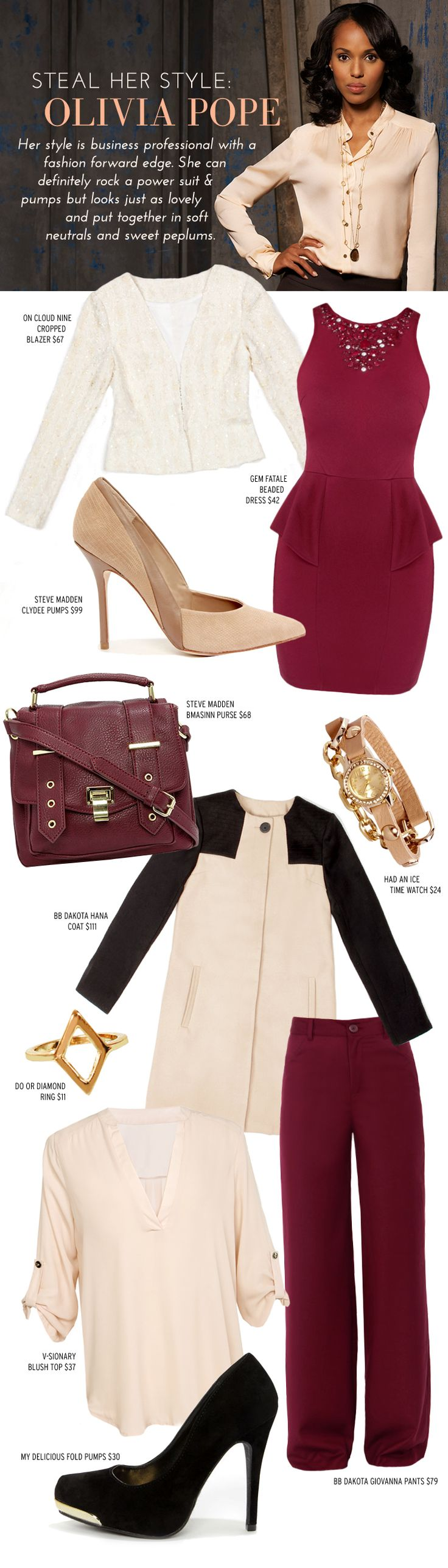 Steal Her Style: Olivia Pope of Scandal at LuLus.com!                                                                                                                                                                                 More