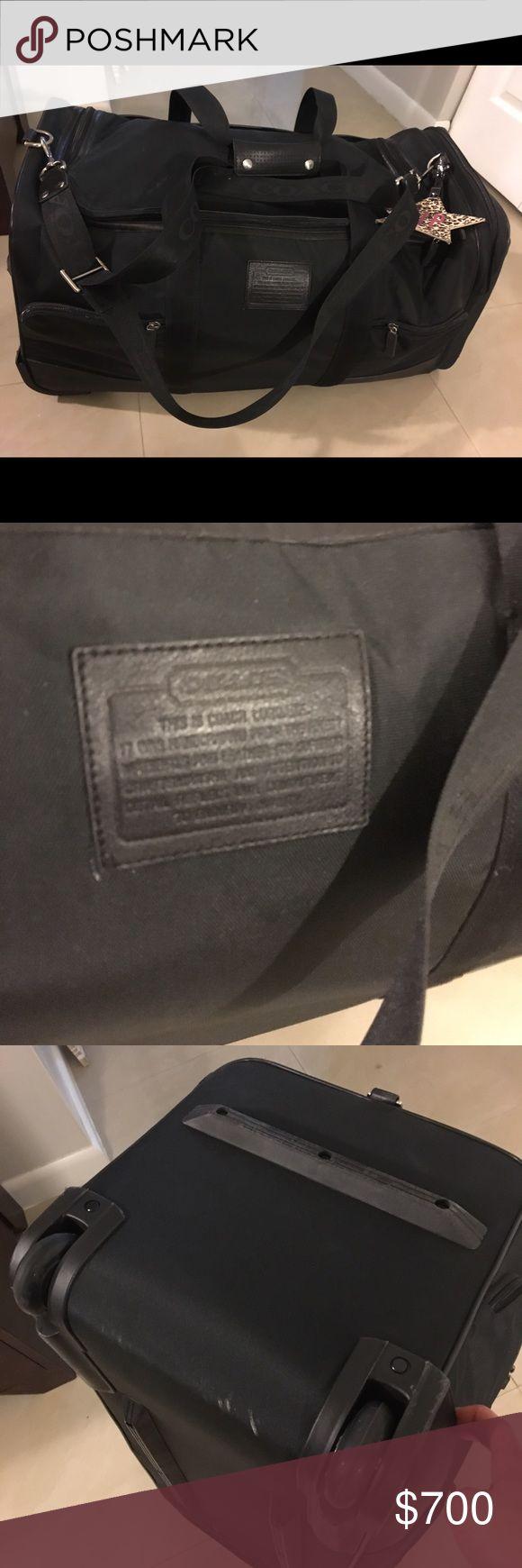 Coach rolling duffle luggage bag Black coach rolling duffle luggage bag Coach Bags Travel Bags