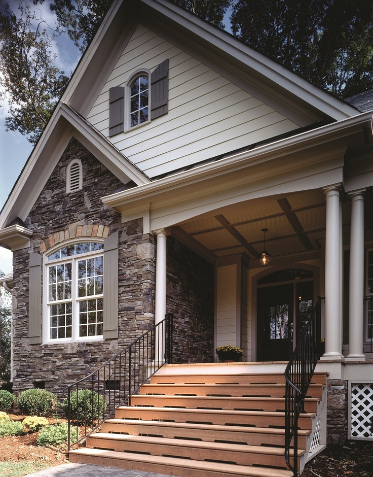 117 best images about home exterior stone siding on for French country house plans with front porch