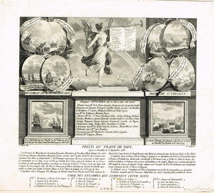 Précis du traité de paix signé à Versailles le 3 septembre 1783