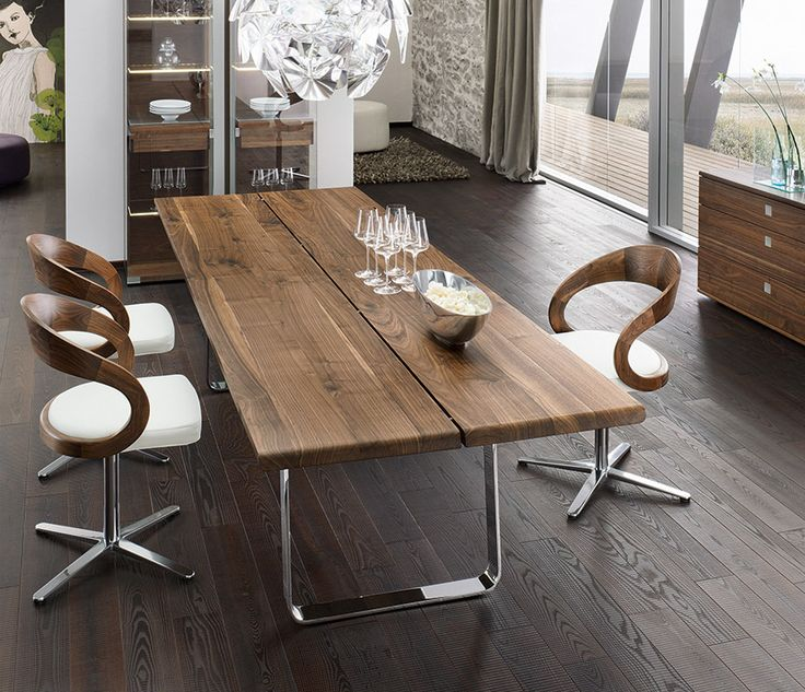 Nox Walnut Modern Dining Table