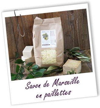 Savon de Marseille en paillettes Aroma-Zone