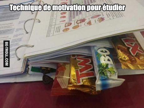 Technique de motivation pour étudier...