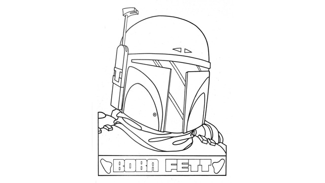 Boba Fett Coloring Page StarWars