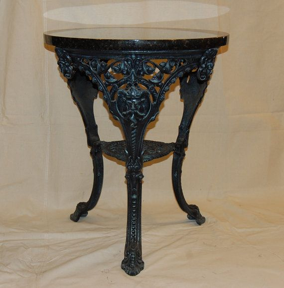 cast iron king neptune table awesome as a patio table